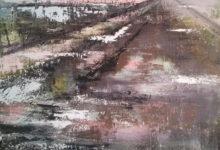Glashelder - 120x120 cm - 2012 - acryl op linnen opgespannen