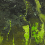 Geaard - 26x48 cm - 2016 - gemengde techniek op doek op masoniet