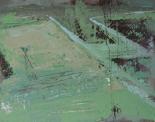 Verbloemen - 45x57 cm - Acryl op doek op masoniet