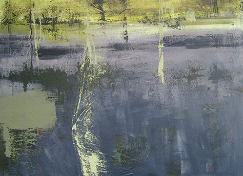 Murmelen - 50x50 cm - 2011 - Acryl op doek opgespannen
