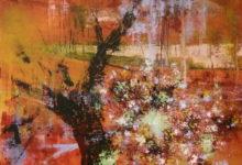 Bloesemen - 160x160 cm - 2012 - Acryl op doek opgespannen