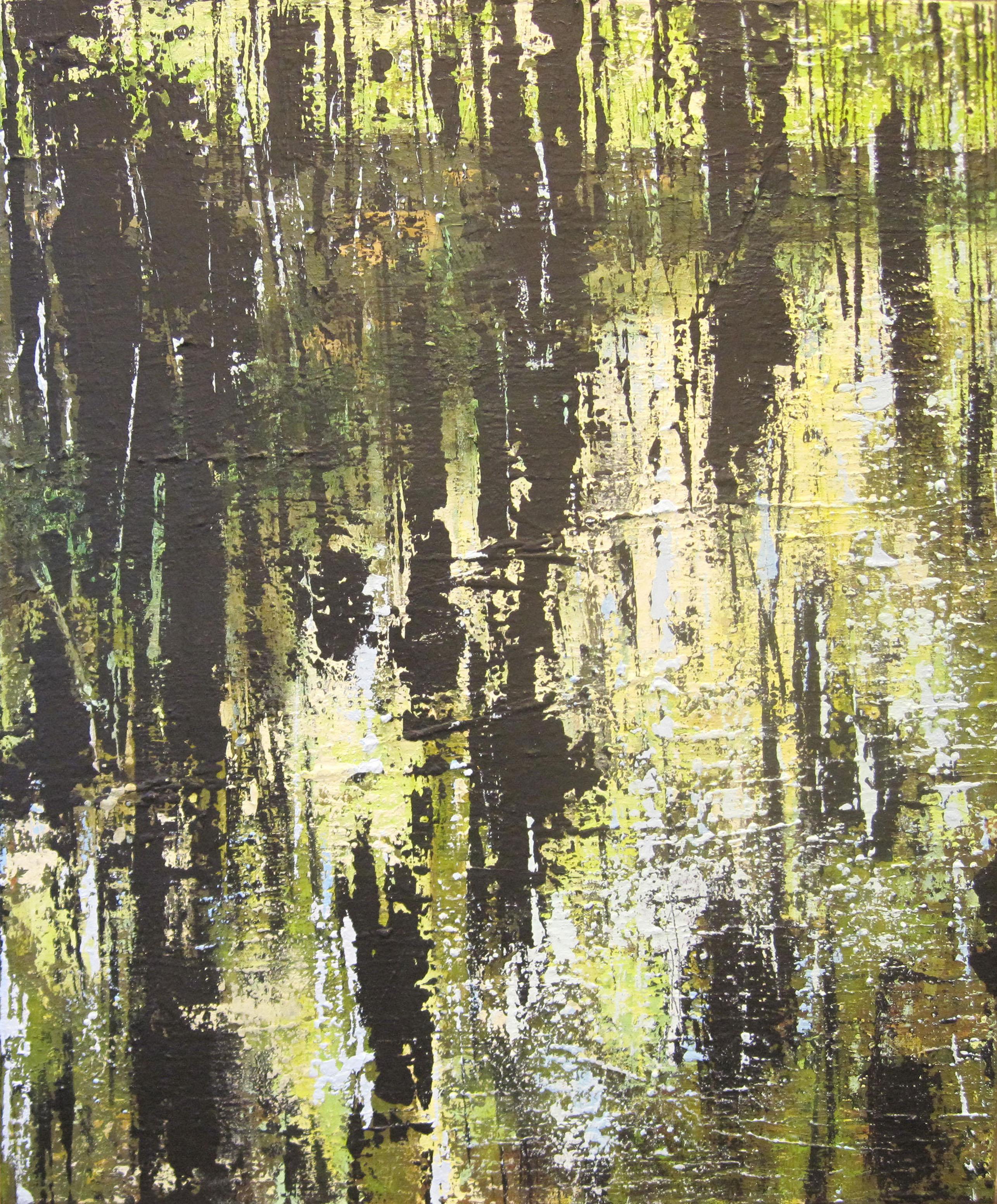 Regen van gisteren II - 95x75 cm - 2012 - acryl op linnen opgespannen