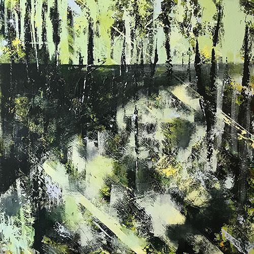 Wetlands, acryl op doek, opgespannen, 140x140 cm, 2019